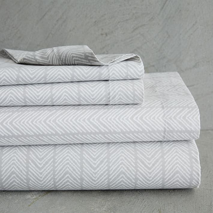 Best Splurge West Elm Organic Chevron Stripe Sheet Set