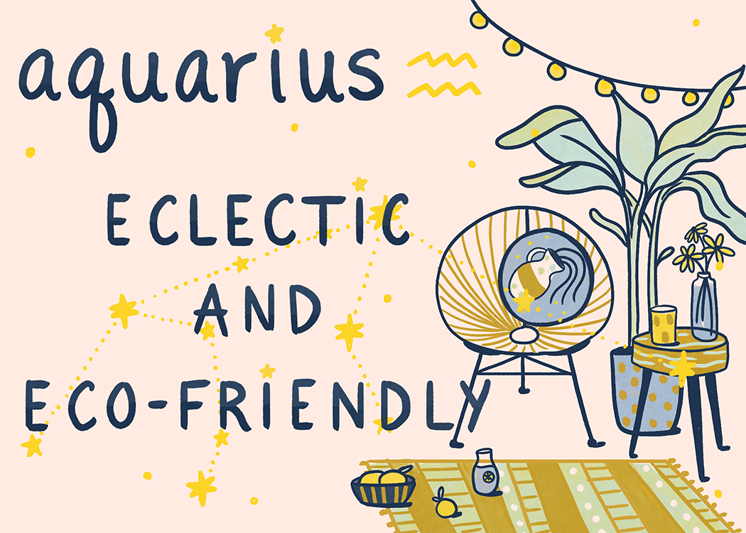 aquarius home decorating illustration