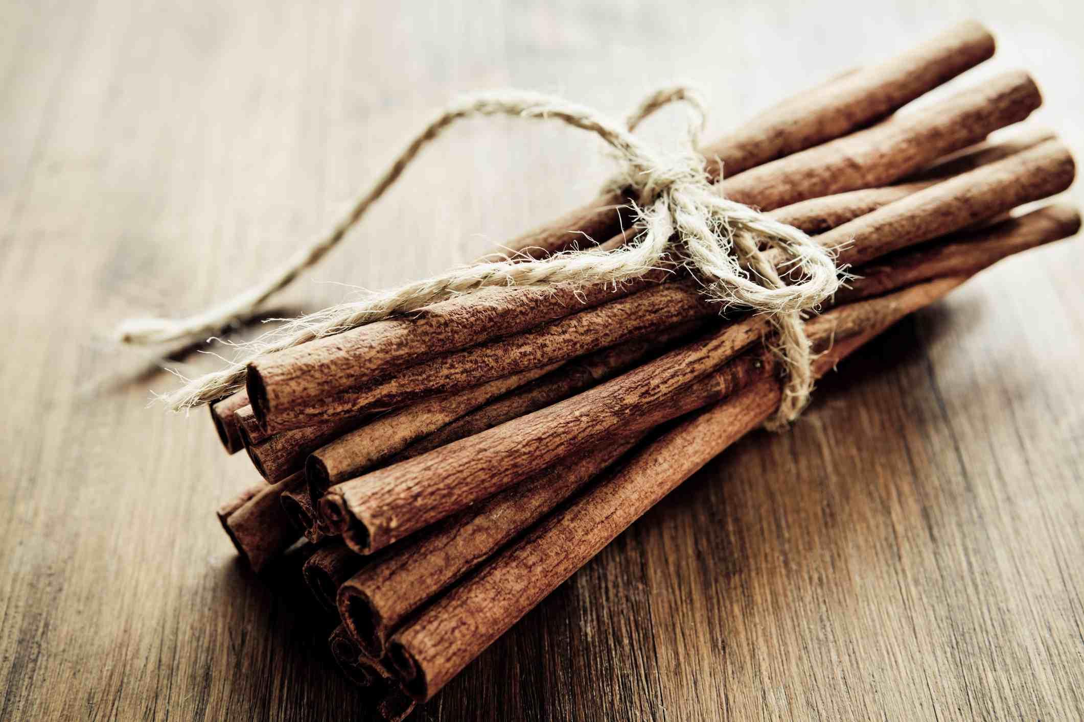 Cinnamon stick decorations