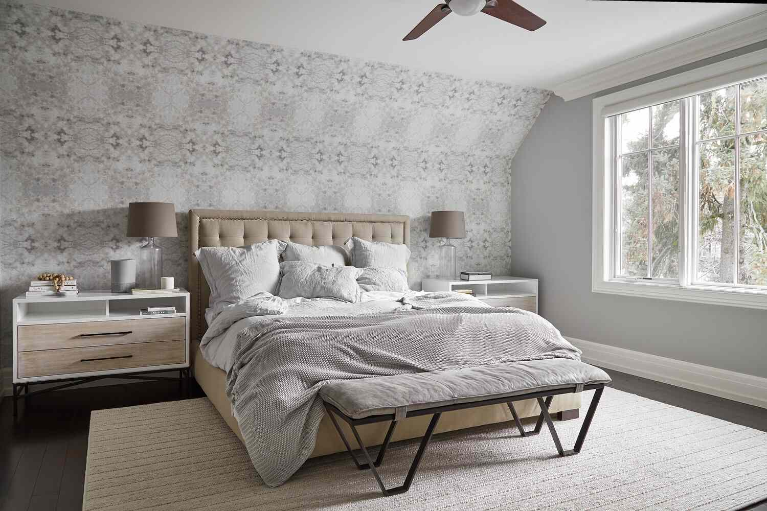 brown and gray modern bedroom