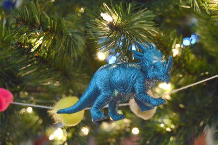 dino toy christmas tree