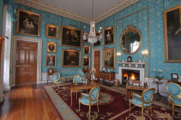 Turquoise Room at Castle Clyveden (Castle Howard) from Bridgerton
