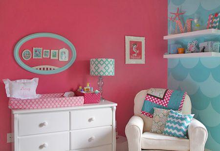 Pink And Teal Mermaid Nursery
