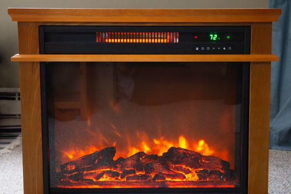 LifeSmart Infrared Quartz Fireplace Heater