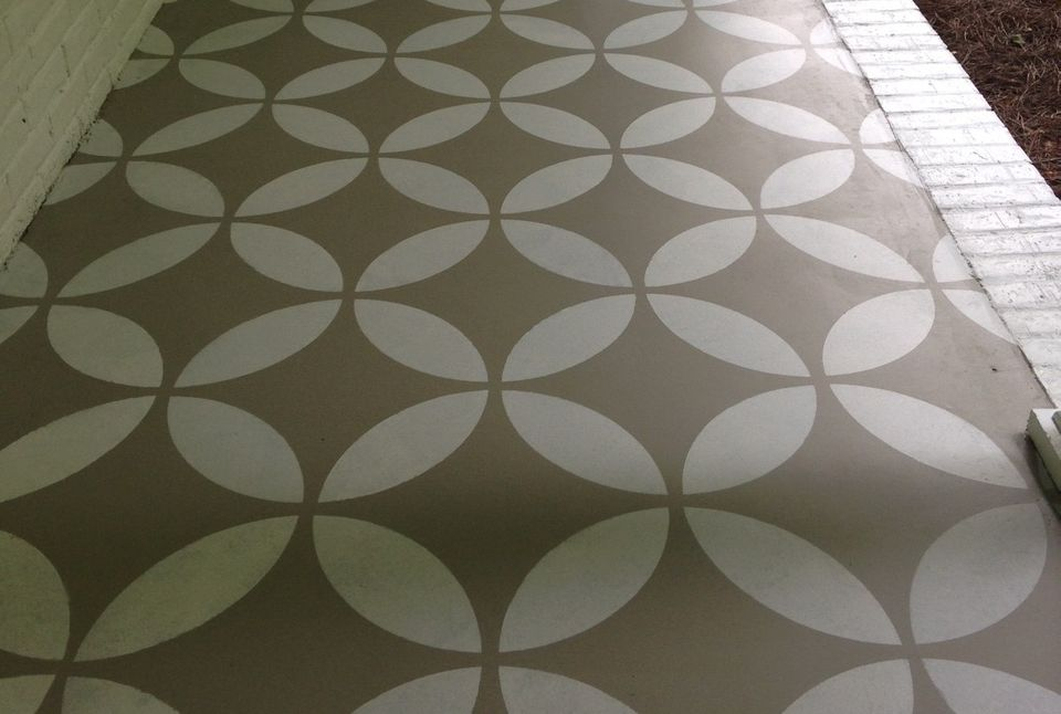 15 Stenciled Concrete Floors To Amaze You