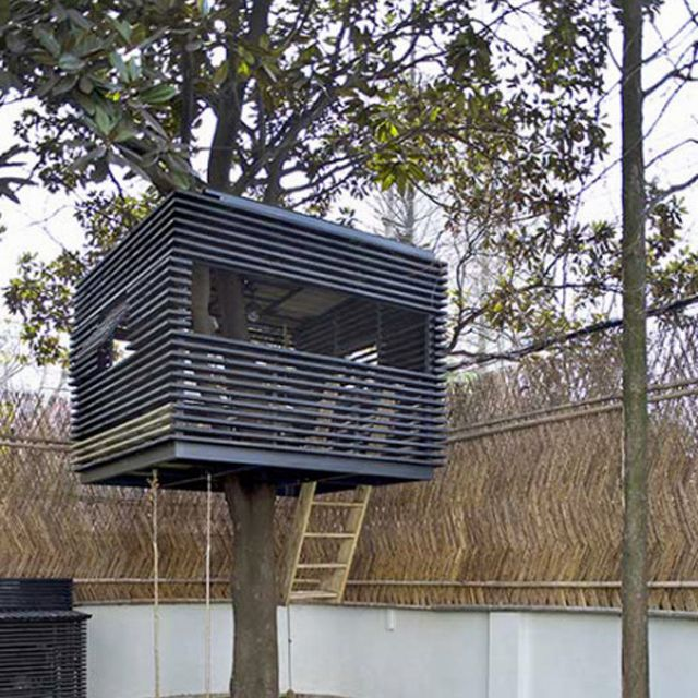 Cube contemporary tree house