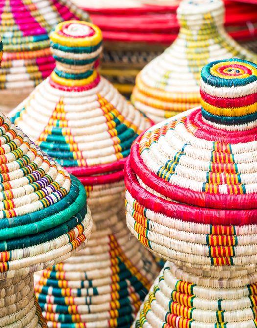 Cestas etíopes hechas a mano