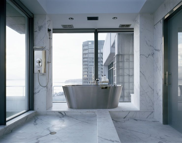modern bathroom with marble