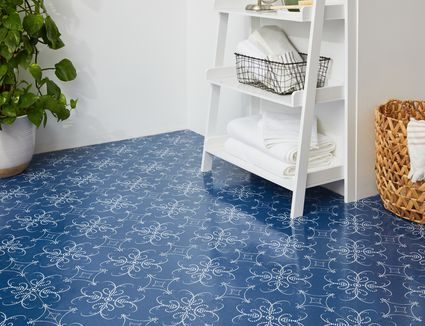 Bathroom self-adhesive floor tiles