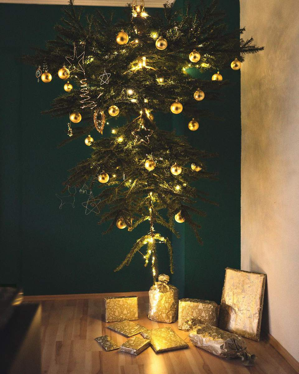 Christmas Tree Alternatives For Cat Owners.21 Best Upside Down Christmas Tree Decorating Ideas