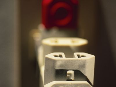 Closeup of polarized plug adapter