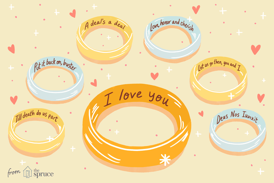 illustration of wedding ring engravement ideas