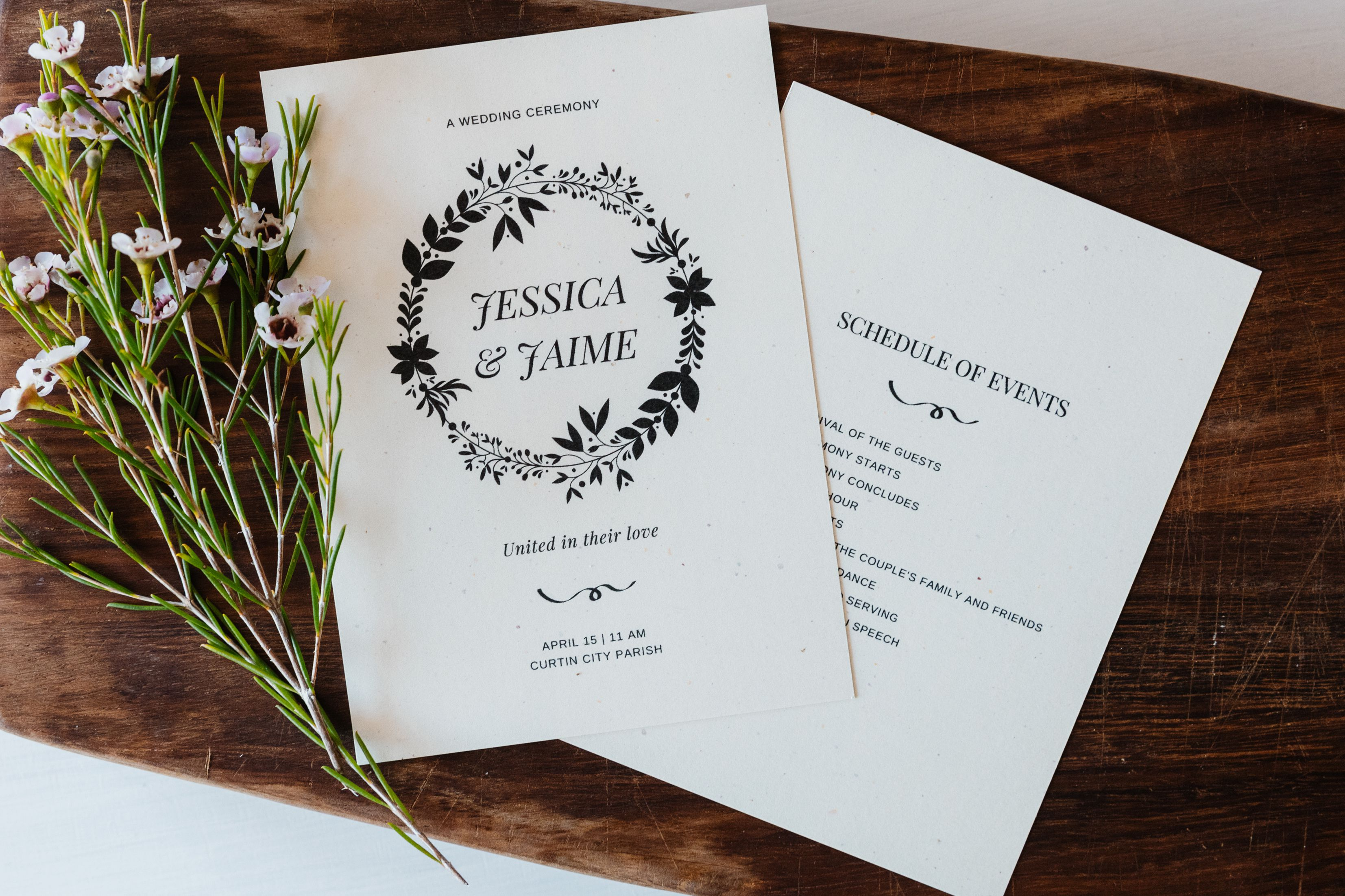 Free Wedding Program Templates You Can Customize