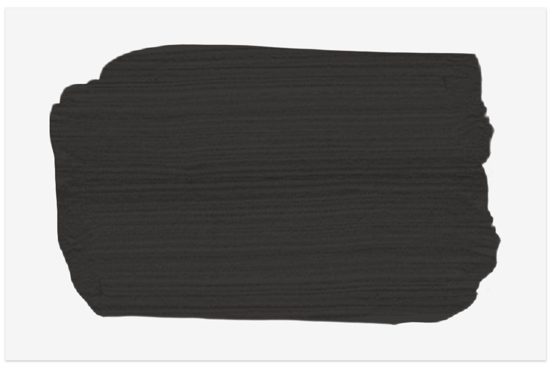 Benjamin Moore paint color swatch in Black Beauty