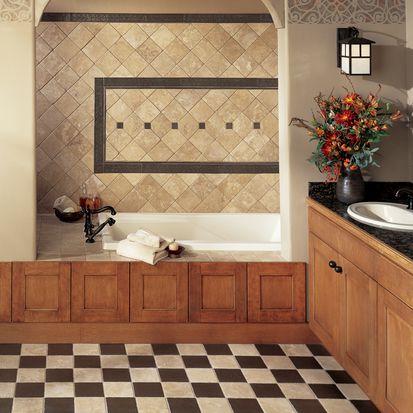 Great Bathroom Tile Ideas - Bathroom floor and wall tiles combinations
