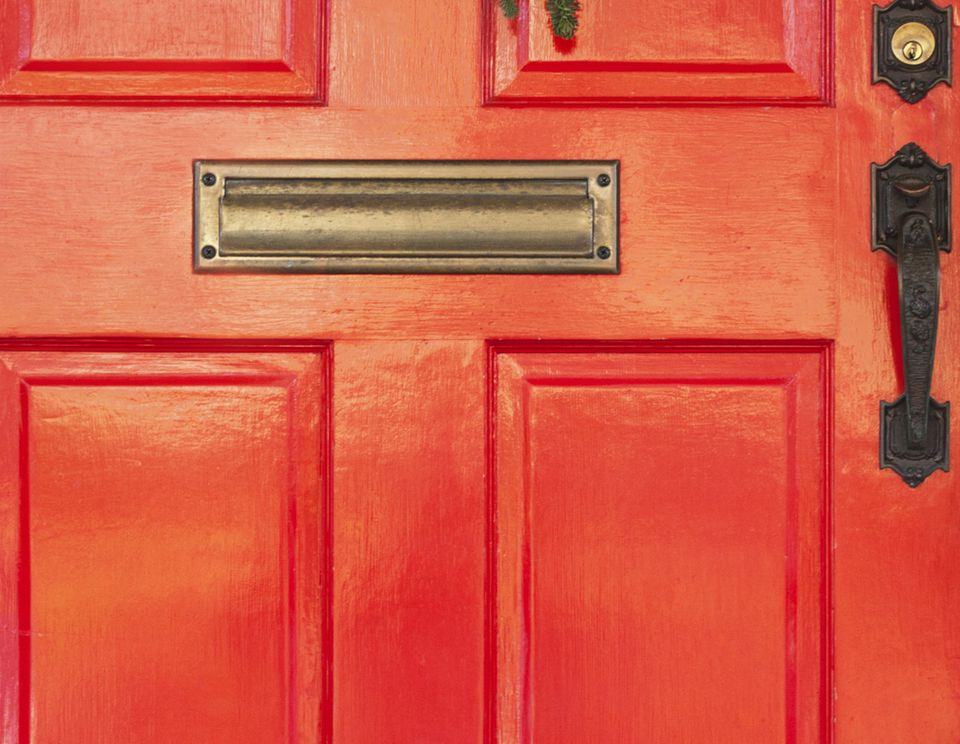 feng shui red color front door south