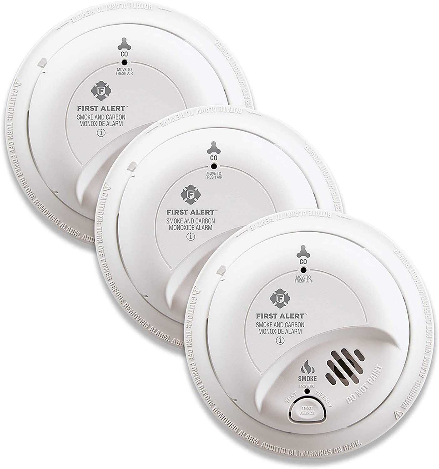 FIRST ALERT BRK SC9120B-3 Hardwired Smoke and Carbon Monoxide (CO) Detector