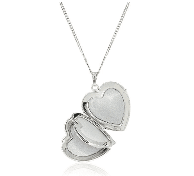Amazon Collection Sterling Silver Heart Locket