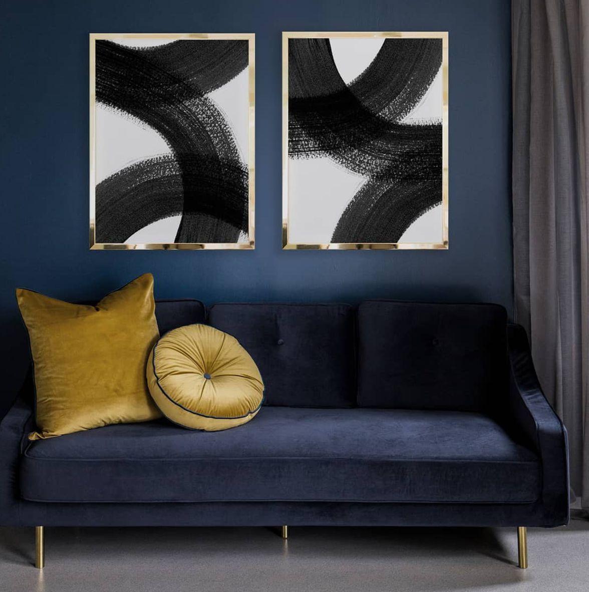 Blue monochrome room