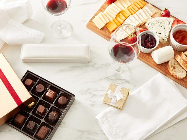 Home picnic spread for Valentine's day
