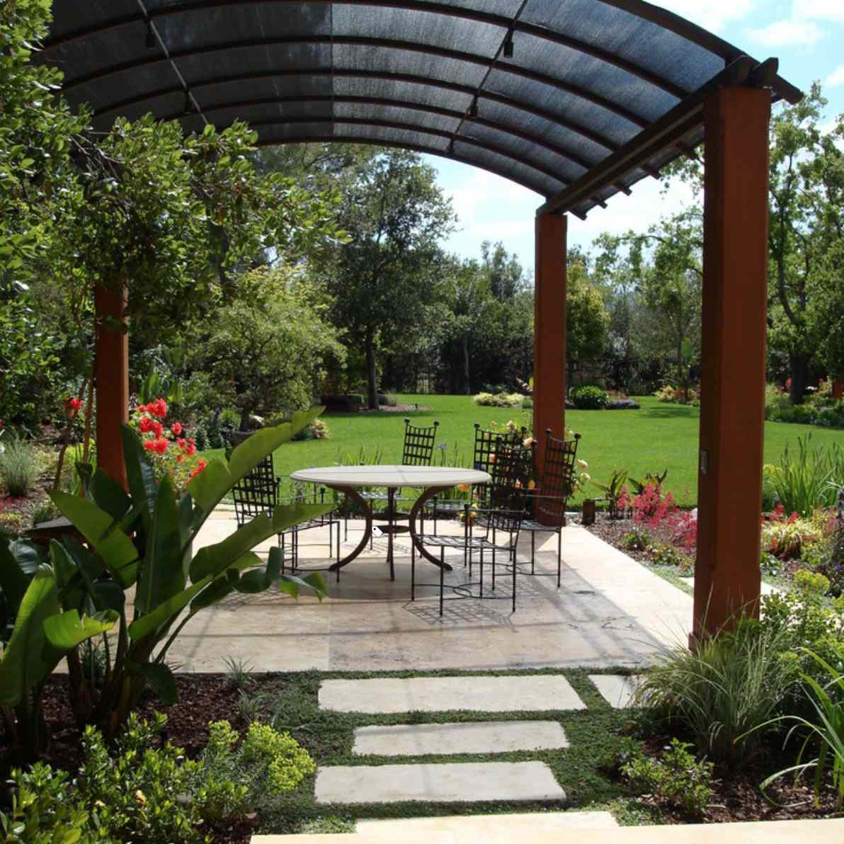 gazebo idea with curved roof