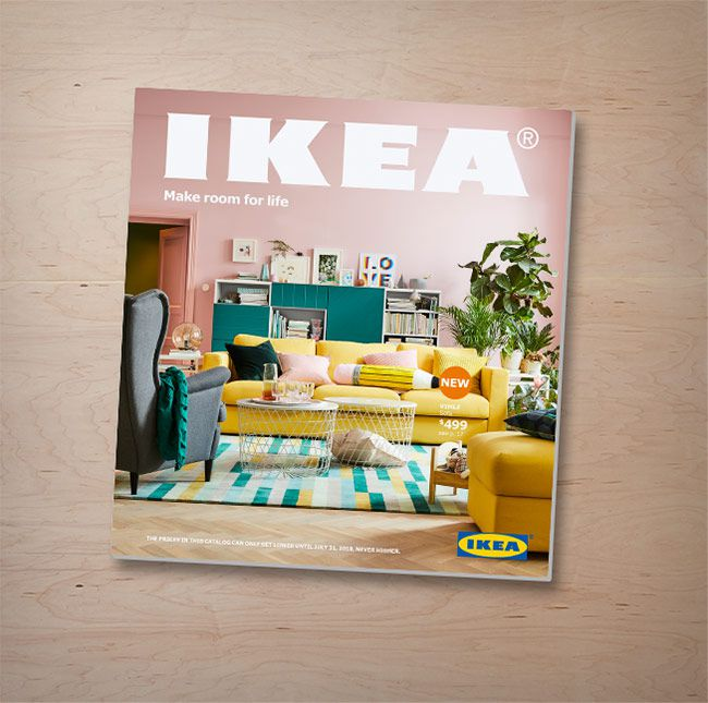 The cover of the 2018 IKEA catalog