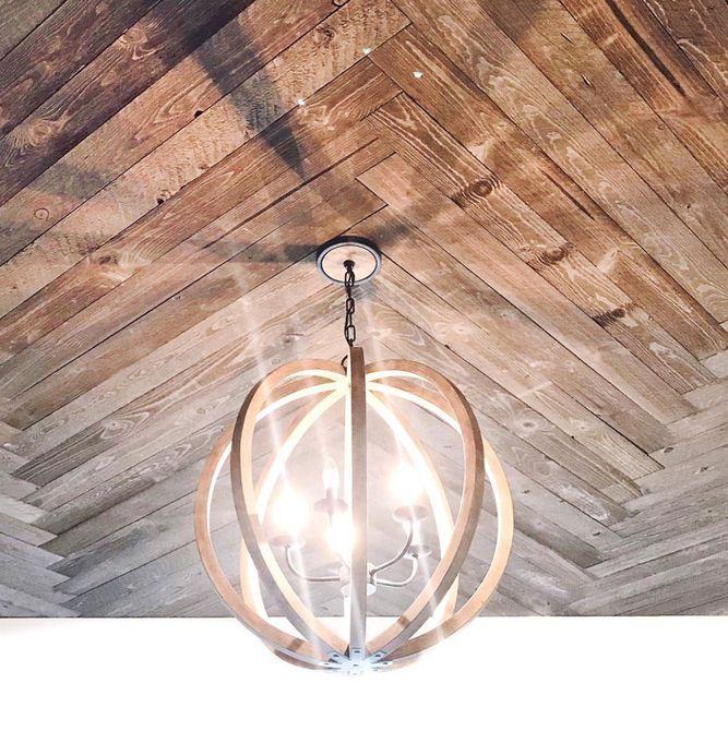 techo de tablones de chevron