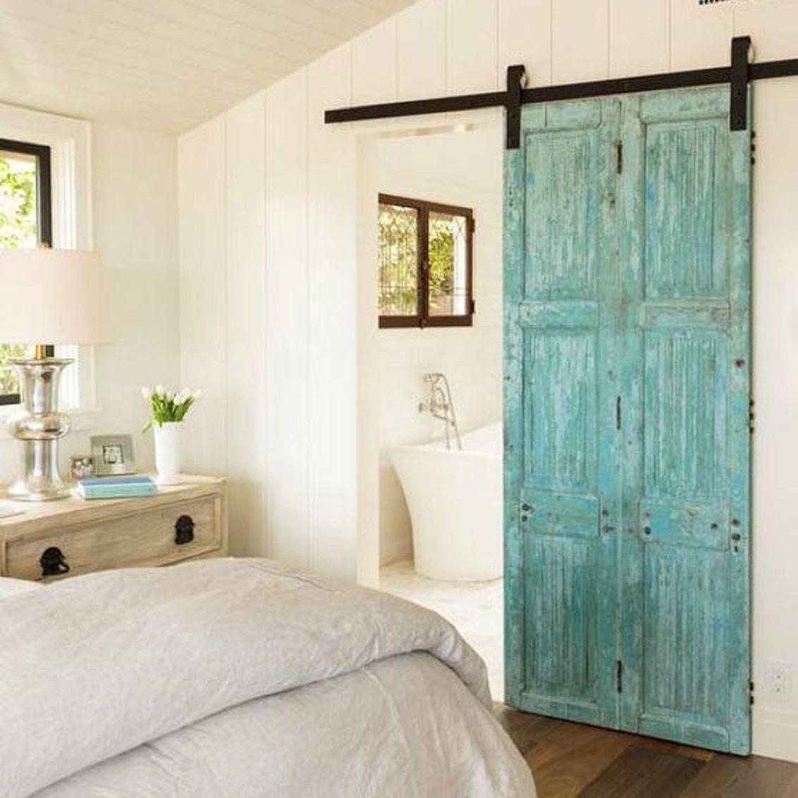 barn door in bedroom