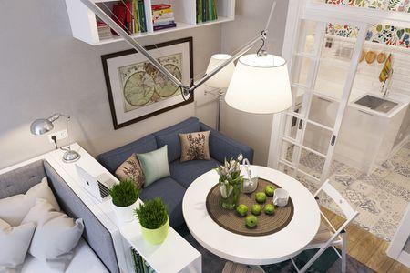 Small E Furniture Studio Apartment Divide Zones