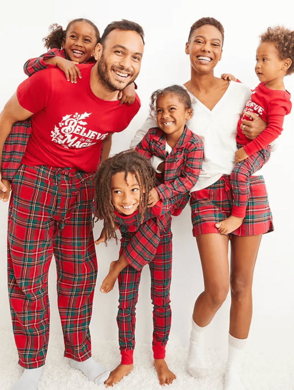 Old Navy Flannel Family Christmas Pajamas