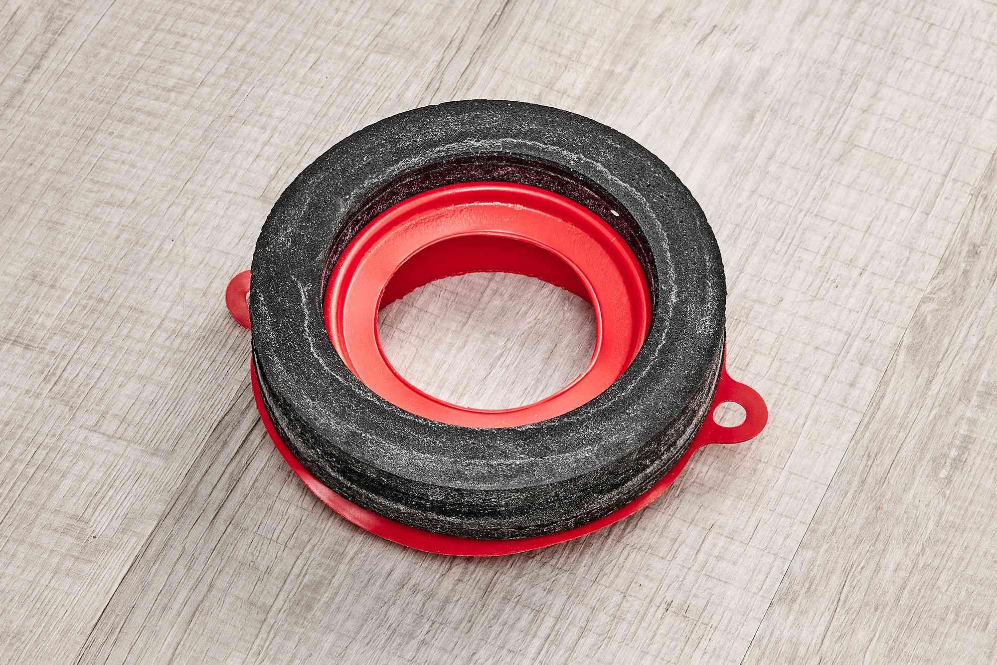 Wax-free foam gasket toilet seal for plumbing