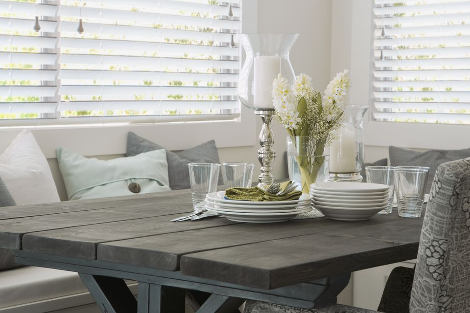 Wooden Blinds in Dining Area