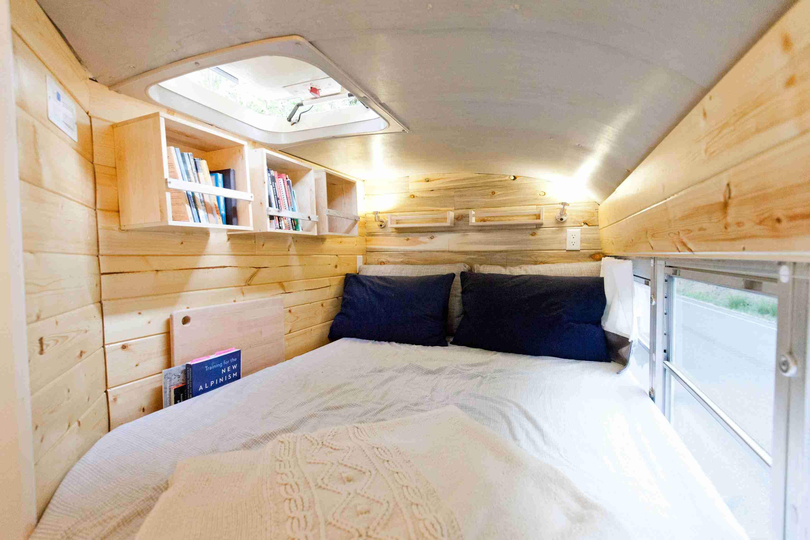 Bus bedroom nook