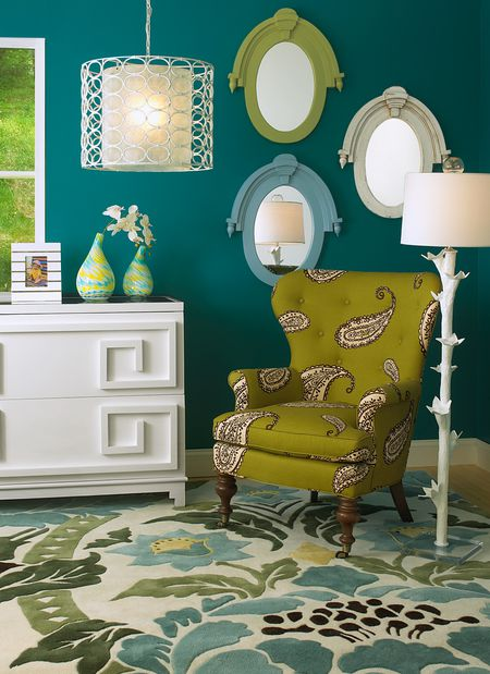 Find Paint Color Inspiration Living Room With Teal Walls