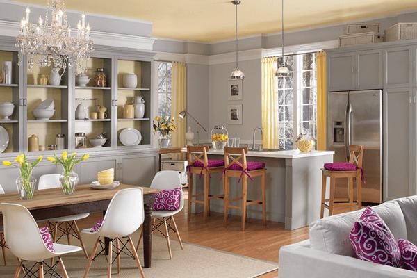 A kitchen with a neutral color scheme