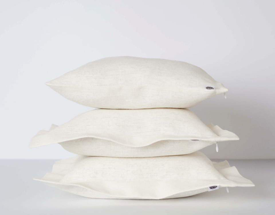 Stack of clean pillows