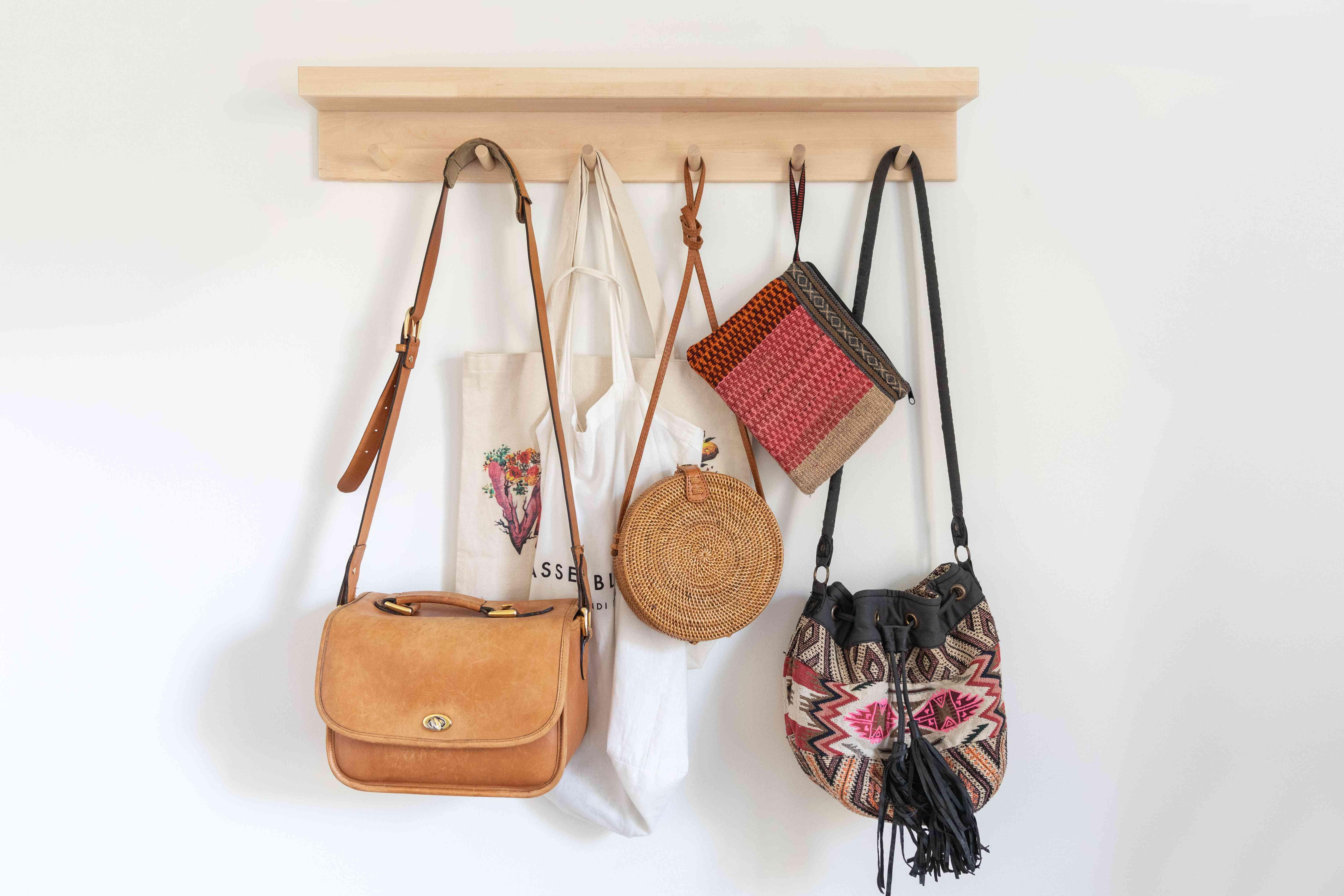 handbags on hooks