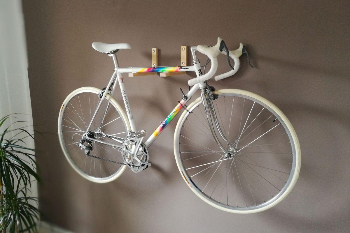 IKEA Stool Bike Rack hack