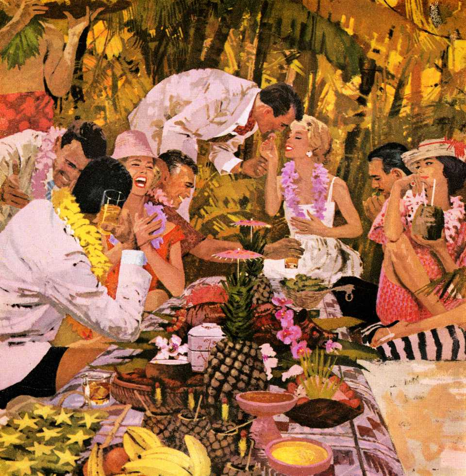 luau party illustration