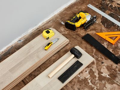Subfloor installation materials and tools
