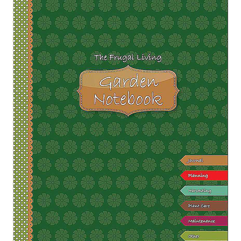 Printable garden notebook cover