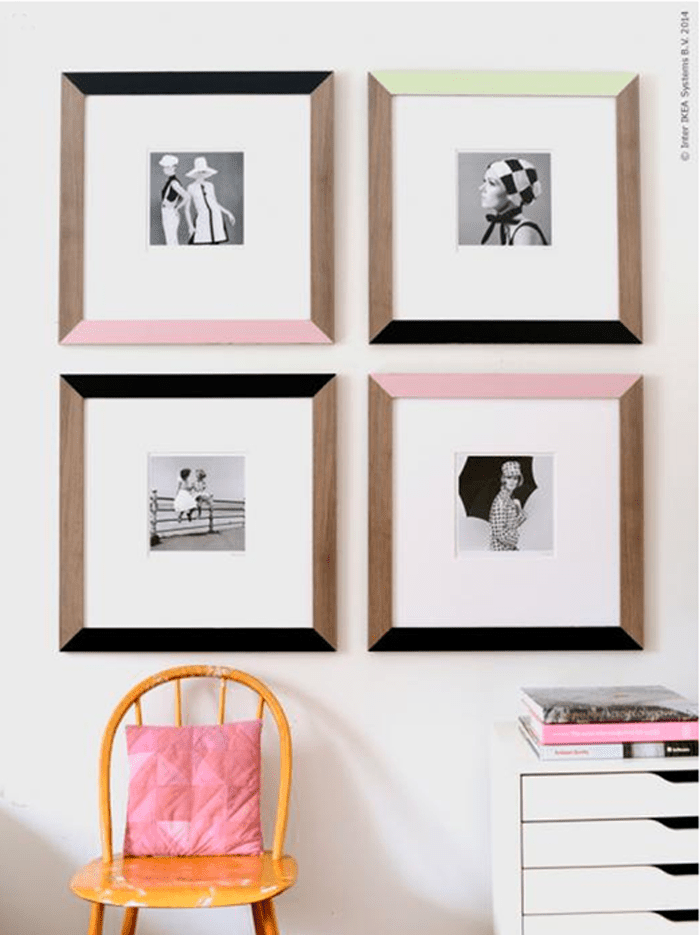 60s style painted frames