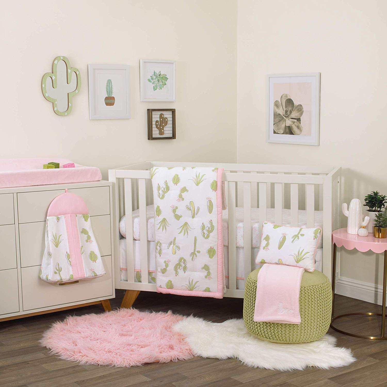 NoJo Dreamer Cactus 8 Piece Nursery Crib Bedding Set from amazon.com