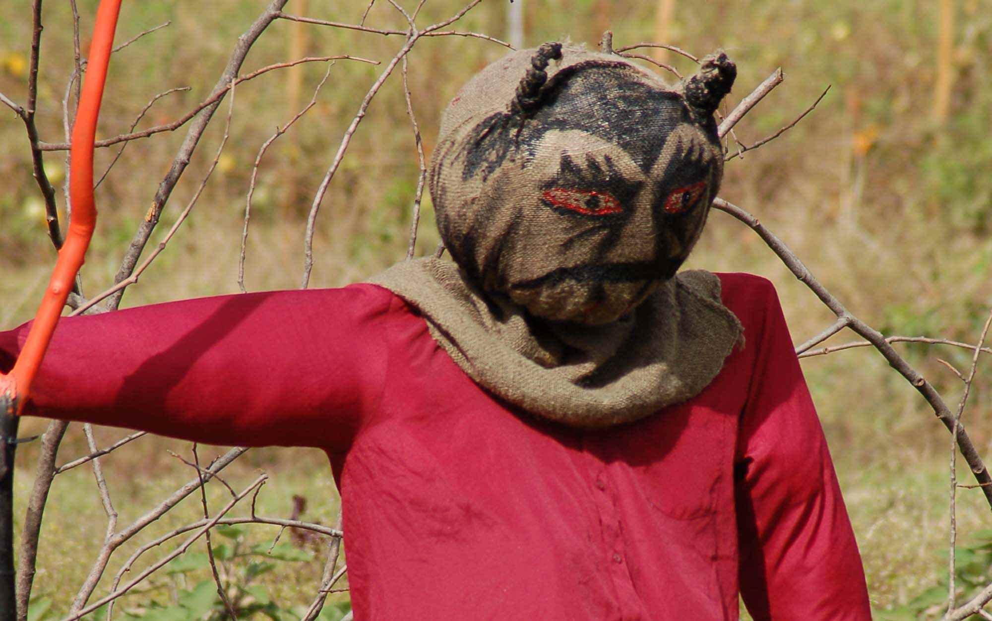 Werewolf scarecrow