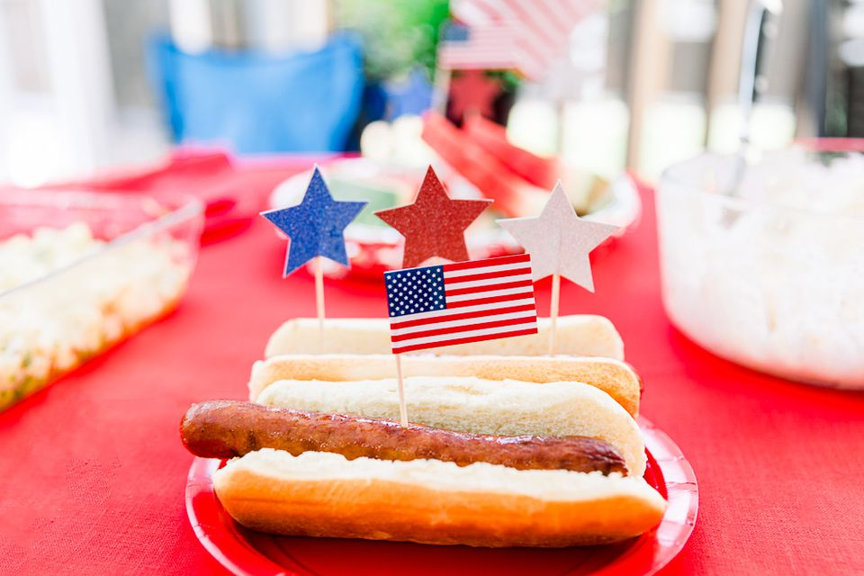 hotdogs at a July 4th barbecue