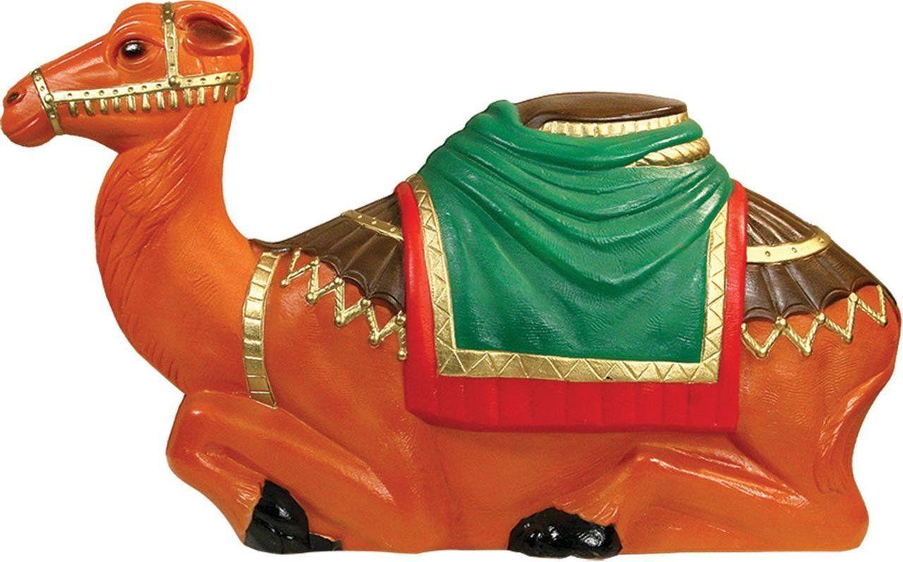 blow mold nativity camel