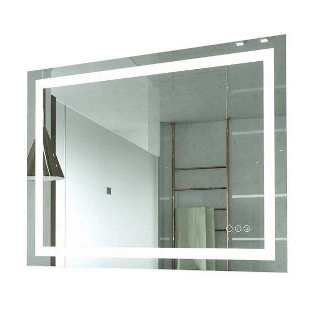 Kinwell Frameless Rectangular LED Light Bathroom Vanity Mirror