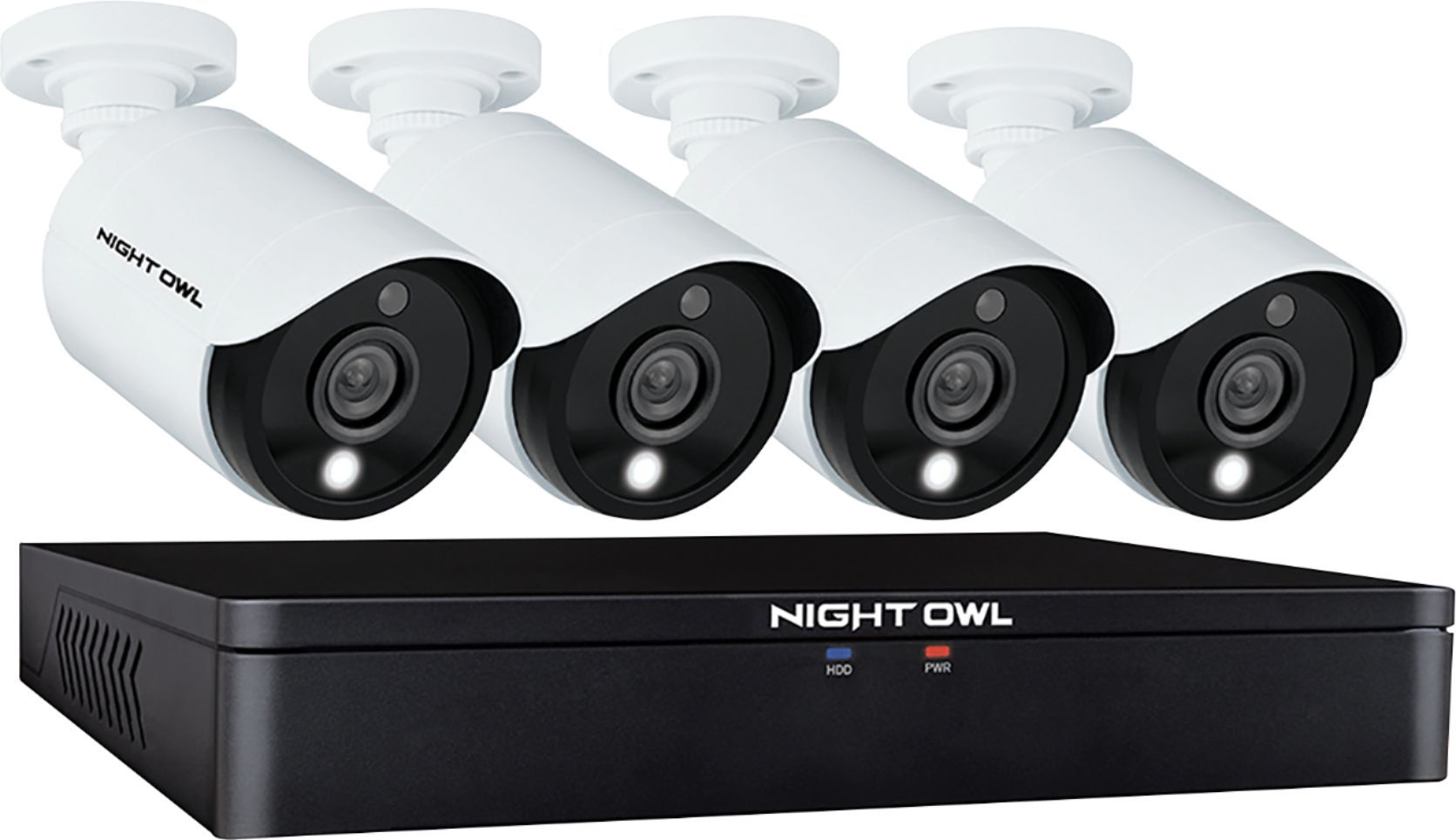 Night Owl - C20X Series 8-Channel, 4-Camera Indoor/Outdoor Wired 1080p 1TB DVR Surveillance System