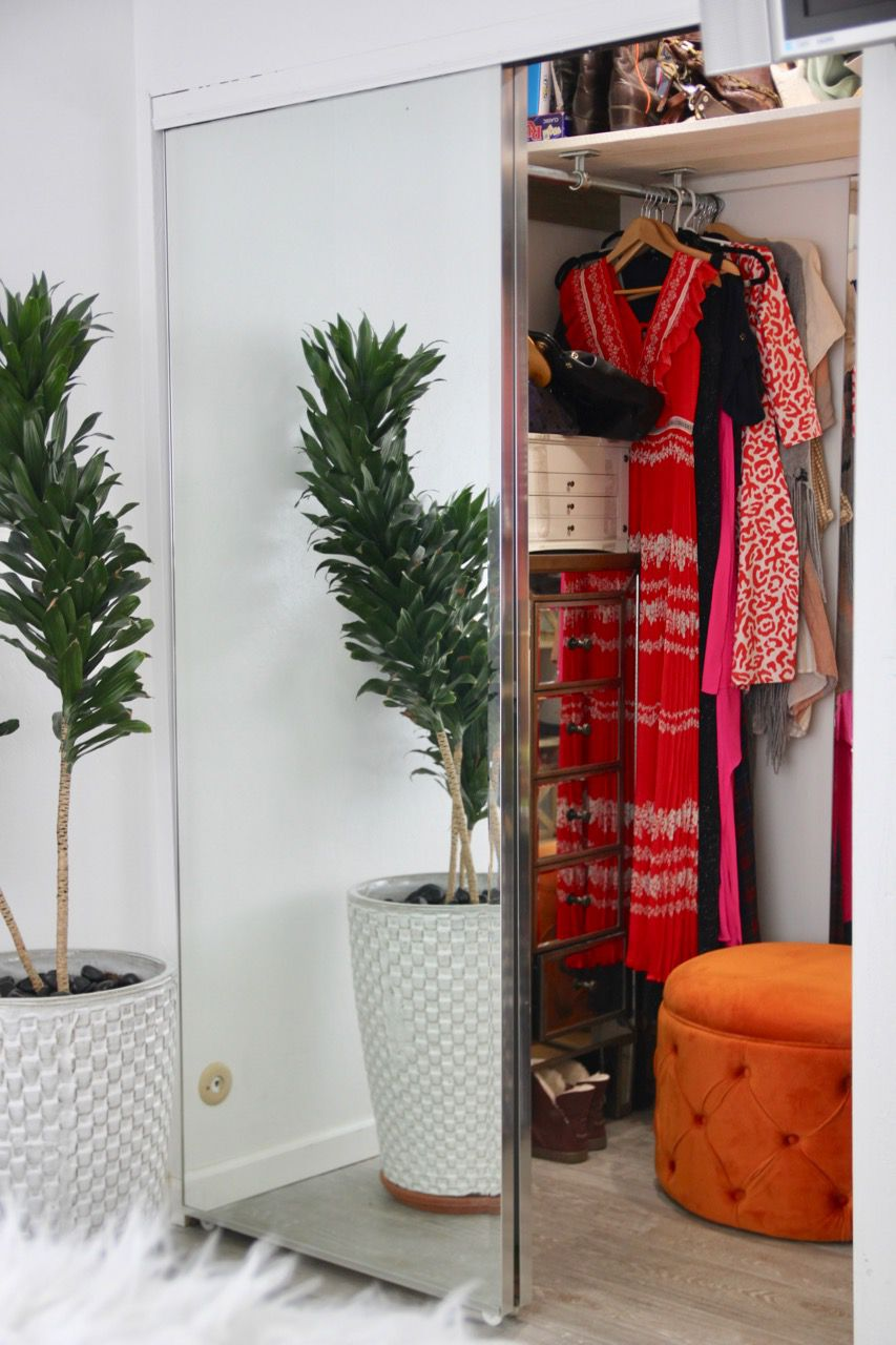 enlarged bedroom closet