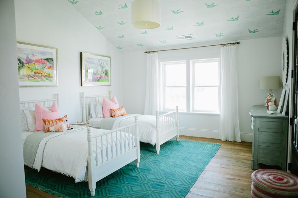 modern farmhouse girls room